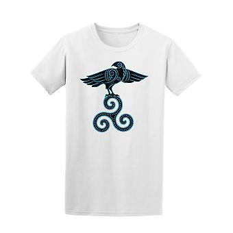Raven Sitting On Symbol Celtic Tee Men's -Image by Shutterstock