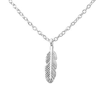 Feather - 925 Sterling Silver Plain Necklaces - W24901X