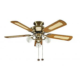 Ceiling Fan Mayfair Combi Brass with Light 107cm / 42