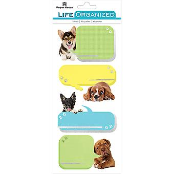 Paper House Life Organized Label Stickers-Playful Puppies
