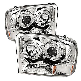Spyder Auto Ford Super Duty/Ford F250/F350 excursie Chrome halogeen LED Projector koplamp