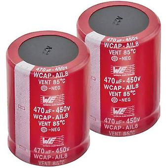Würth Elektronik WCAP-AIG5 861021486030 Electrolytic capacitor Snap-in 10 mm 270 µF 450 V 20 % (Ø x H) 35 mm x 42 mm 1