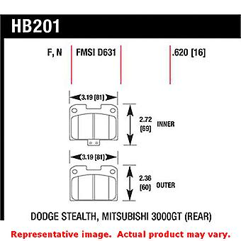 Hawk 'Performance Street' Brake Pads HB201F.620 Fits:DODGE 1995 - 1996 STEALTH