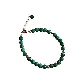 Gemshine - ladies - bracelet - gold plated green - Malachit-faceted-