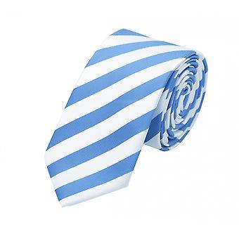 Tie tie tie tie 6cm Blue light blue Fabio Farini white striped