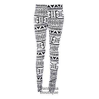Ladies USA Aztec Pinstripe Peace Nebula Dogtooth Camo Print Women's Leggings