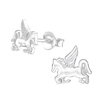 Unicorno - 925 Sterling Silver pianura orecchini - W36674X
