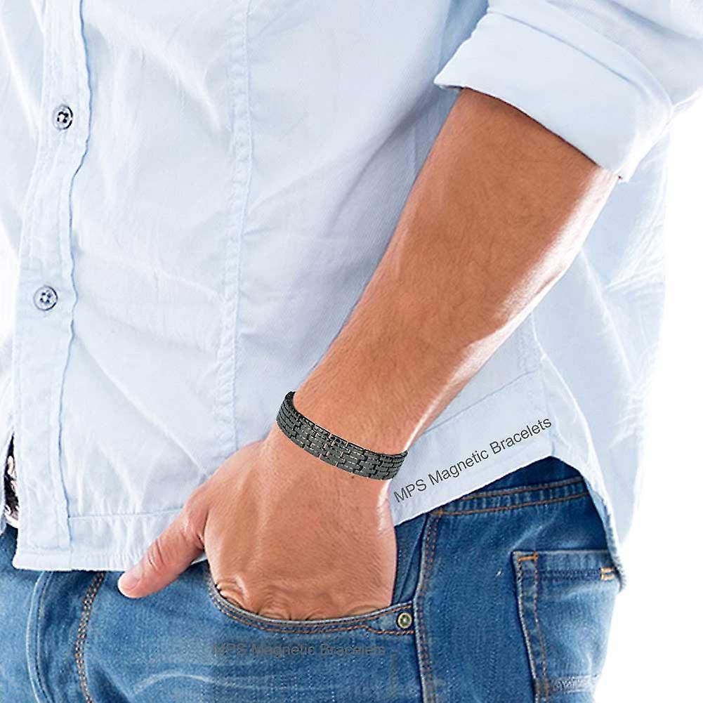 MPS® TITAN Black Titanium Magnetic Bracelet for Men
