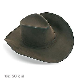 Cowboyhut braun Hut Wildlederoptik Wilder Westen
