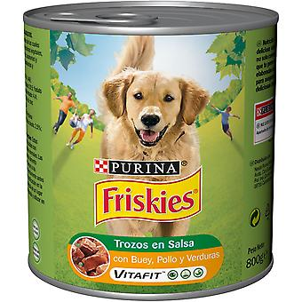 Friskies Chunks in Sauce With Beef And Chicken (Dogs , Dog Food , Wet Food)