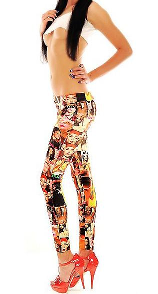 Waooh - Fashion - Leggings Pattern Photographs From Stars