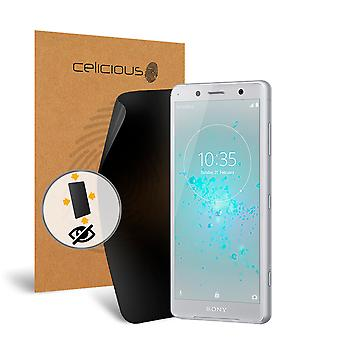 Celicious Privacy Plus 4-Way Anti-Spy Filter Screen Protector Film Compatible with Sony Xperia XZ2 Compact