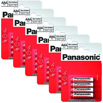 24 x Panasonic R03R-4BP AAA Size Batteries