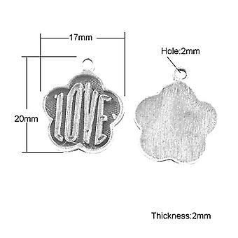 Pakiet 20 x antyczne srebro tybetańskie 20mm miłości czar/wisiorek HA08505