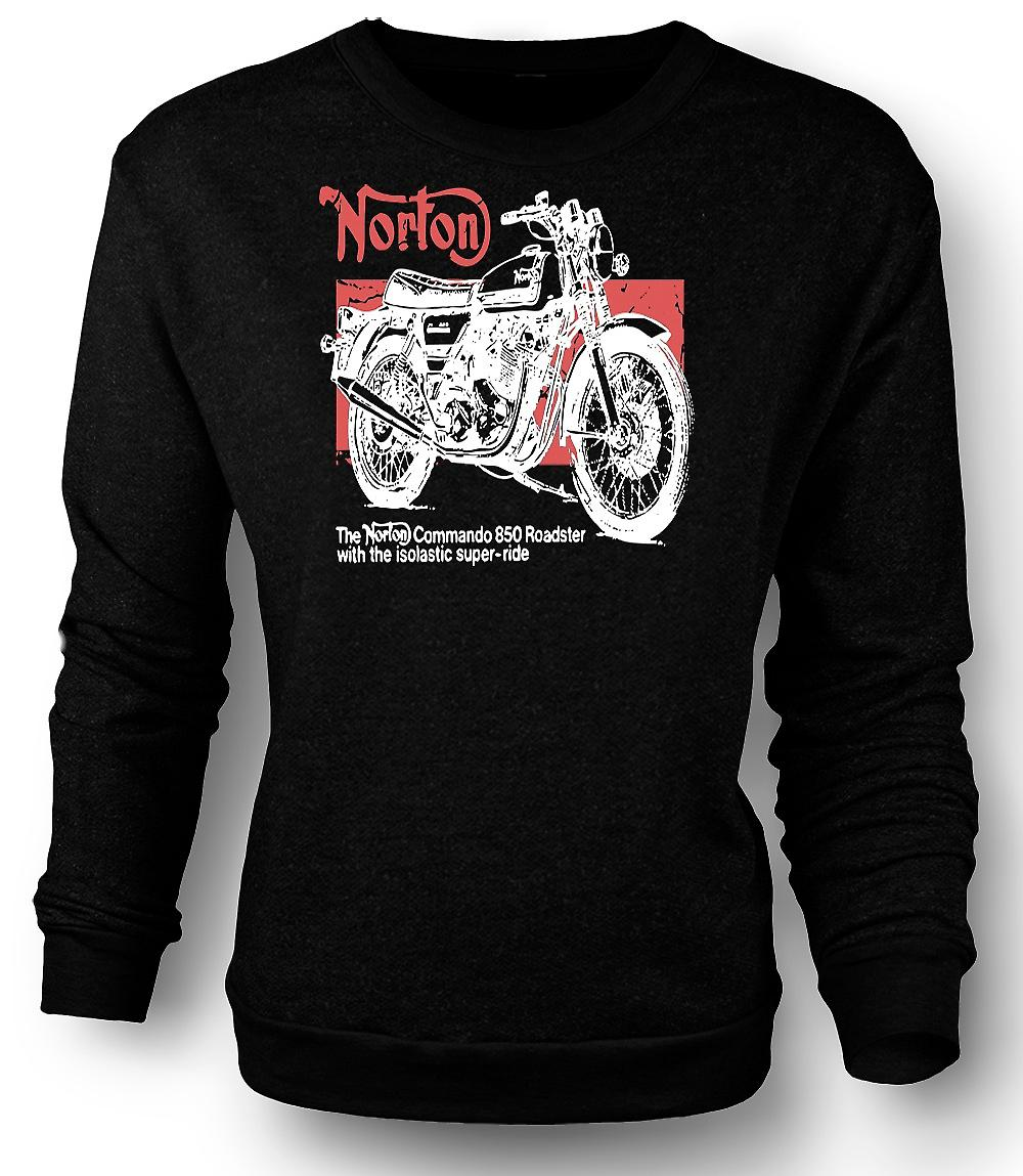 Mens Sweatshirt Norton Commando 850 Roadster