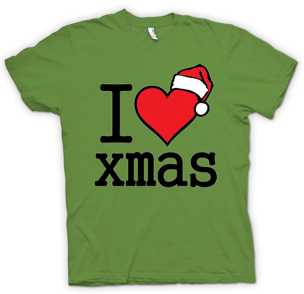 Mens T-shirt - I Love Xmas - Funny Christmas