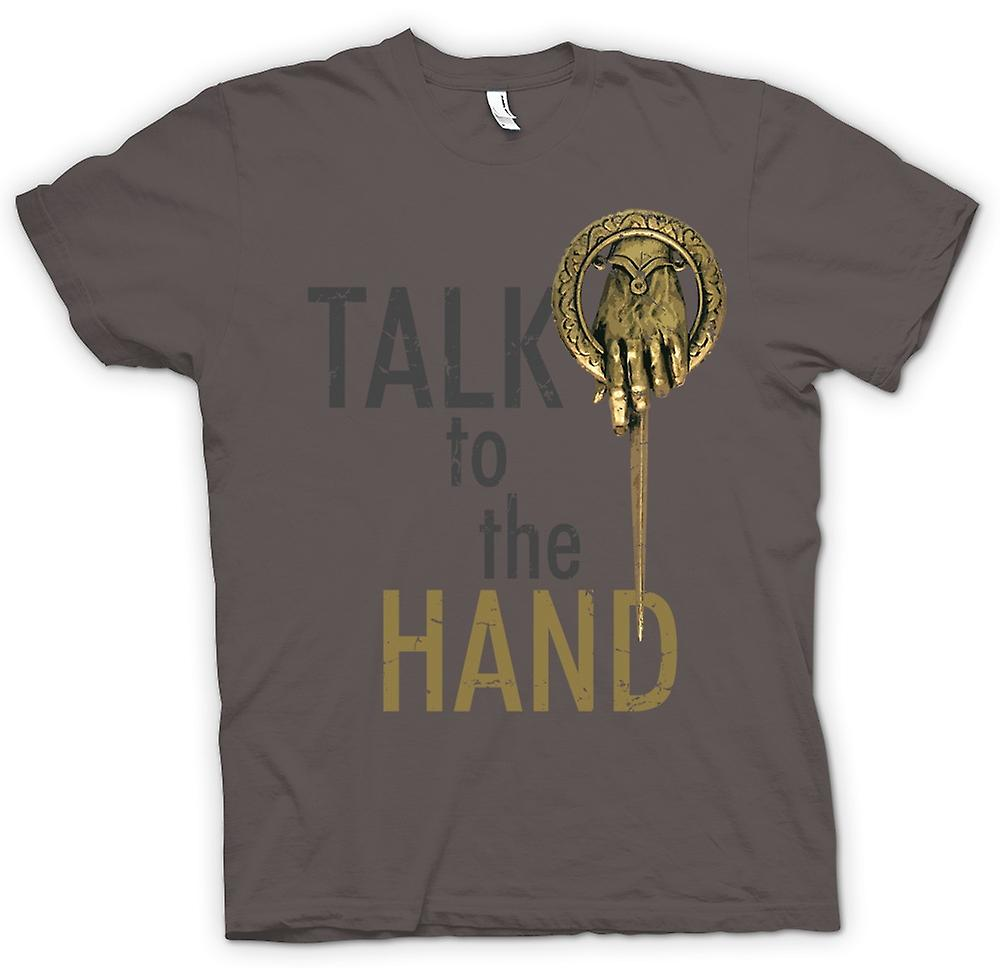 Funny Womens T-shirt - Talk à la main-