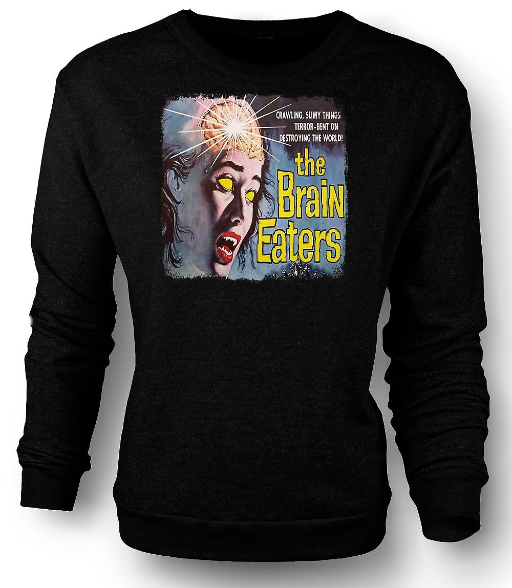 Mens Sweatshirt Brain Eaters - horreur - film B
