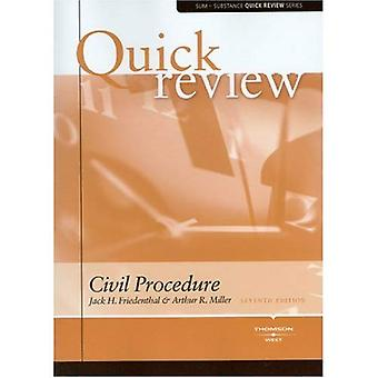 Sum and Substance Quick Review on Civil Procedure (Quick Review Series)