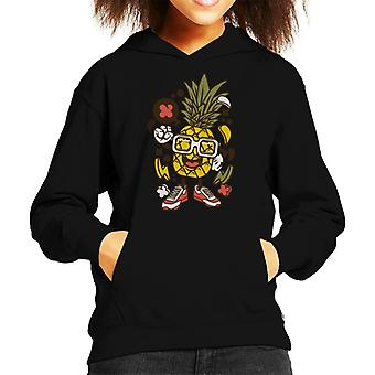 Ananas Man In glazen Kid de Hooded Sweatshirt