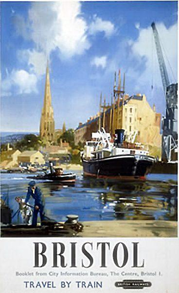 Bristol Docks (old rail ad.) fridge magnet  (se)