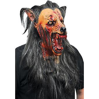 Braune Wolf Latex Maske für Halloween