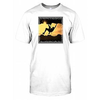 Rock Climbing Silhouette Mens T Shirt
