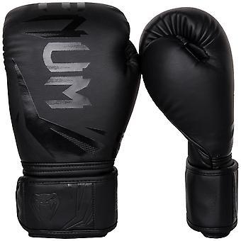 Venum Challenger 3.0 Hook & Loop Boxing Training Gloves - All Black