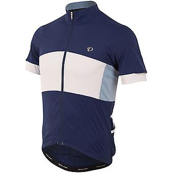 Pearl Izumi Blue-White Elite Escape Semi Form Short Sleeved Cycling Jersey