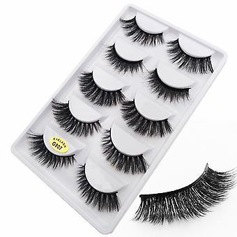 5-pair false eyelashes-3D faux mink-G807