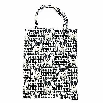 French bulldog eco foldable shopping bag by signare tapestry / eco-fren