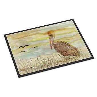 Brown Pelican Yellow Sky Indoor or Outdoor Mat 18x27