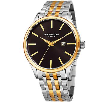 Akribos XXIV Men's AK941 Sunburst Dial Luminous Hands Date Stainless Steel Braclet Watch AK941TTG