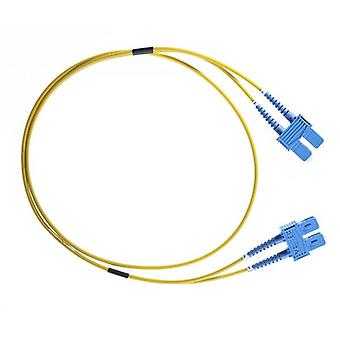 30M Sc Sc Os1 Os2 Singlemode Fibre Optic Cable Yellow