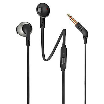 JBL Earphone Hands Free Stereo Jack 3.5 mm Wired Pure Bass T205 Black