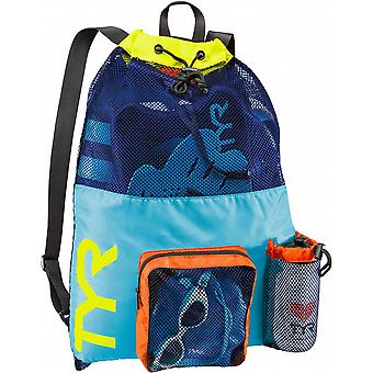 TYR Big Mesh Mummy Backpack-Blue / Yellow