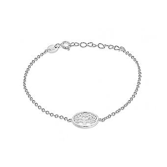 Evighet sterling silver Tree of Life arm band