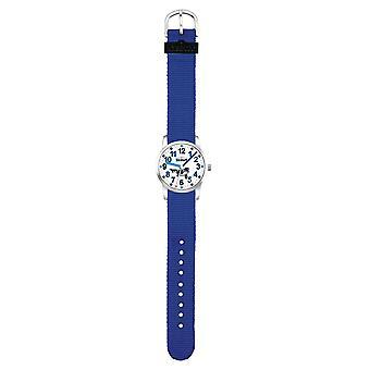 Scout Kids Watch Learning Clock UP! Waal - Blue Boys Girls 280310003