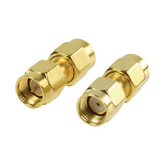 Valueline SMA Adapter RP SMA Male - SMA Male Gold VLSP02110A