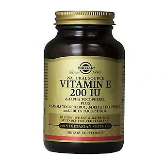 Solgar Vitamina E 134mg (200iu) Softgels Vegetarianos 100 (3506)