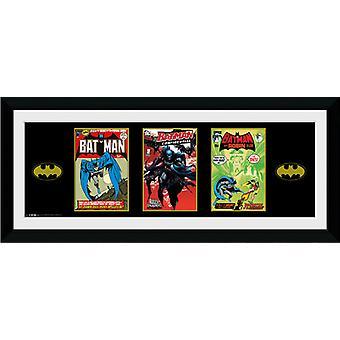 Batman Comic 3 Comics gerahmt Collector Print 75x30cm