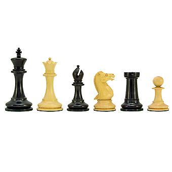 Oude Engelse Elite serie Ebony Staunton Chess Pieces 4 Inches