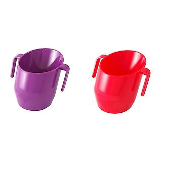 Doidy Cup Bundle - Purple & Red - Solid Colour 2 Items
