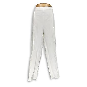 Isaac Mizrahi Live! Vrouwen ' s broek 24/7 stretch enkel wit A275665