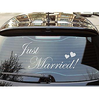 Personlig bara gift bilfönster klistermärke dekal grafisk personlig bröllop brud