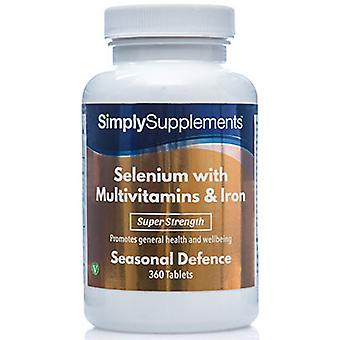 Selenium-220mcg-multivitamins-iron - 360 Tablets