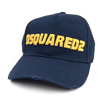 Dsquared2 Logo Baseball Cap Navy/yellow
