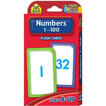 Flash Cards Numbers 1 100 50 Pkg Szflc 4005