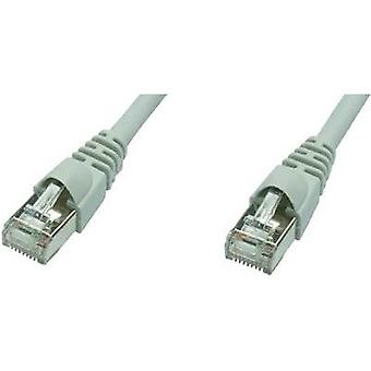 RJ49 Networks Cable CAT 5e F/UTP 20 m Grey Flame-retardant, incl. detent Telegärtner