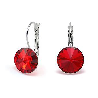 Crystal earrings Light Siam EMB 1.5